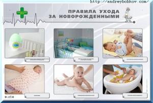 правильный уход за новорожденными детьми до 1 года